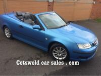07 Saab 93 convertible 32000 miles!!! 6 speed Manual tid 7 service stamps !! Years mot immaculate!!