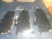 3 gtx 980 ti graphics card, each with titan x ek waterblock, original card covers, perfect condition