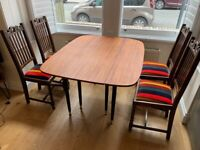 House of Hackney Vintage Chairs (4) & Table Set