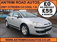 2007 CITROEN C4 COOL 1.6 ** SERVICE HISTORY ** FINANCE AVAILABLE WITH NO DEPOSIT