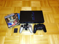 Playstation 2 with Pro Evolution Soccer 5, Street Fighter EX3 + 2 controllers + Memory Card PS2