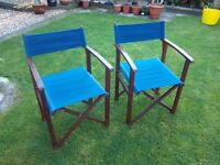 Directors chair x2 , hardwood, folding directors type chair, good quality. £15 each