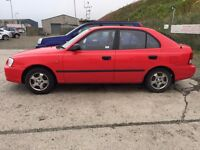 Hyundai Accent 1.3 GSI 4 door red trade in to clear £275