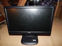 Acer AL1603W 16 inch Wide LCD Monitor + desk lamp