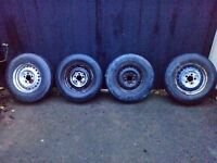 Vw t25 t3 steel wheels and tyres