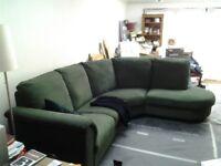 IKEA Tidafors Right handCorner Sofa from Ikea Forest Green.