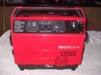 EX 650 GENUINE HONDA 4 STROKE PETROL GENERATOR IN SHOWROOM CONDITION, HARDLY EVER USED