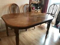 Solid Pine table & 6 matching chairs £200 or make offer need rid