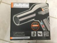 Boxed Babyliss Lightweight Professional Hairdryer