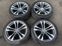20'' BMW X5 M SPORT 468 X6 ALLOYS ALLOY WHEELS TYRES 5X120