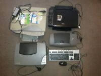 Bundle of 4 printers + FREE keyboard and mouse