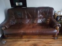 leather 3+2 seater sofa for sale £100