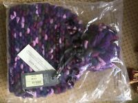 Fat Face Bobble Hats (Sml) and Scarf - Brand New