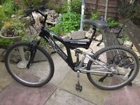 Saxon Blackout Full Suspension Mountain Bike