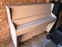 Challen Upright Piano, painted white
