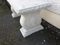 Concrete rope bench seat
