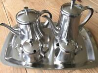 BEAUTIFUL STAINLESS STEEL COFFEE TEA SET