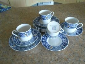 Coffee set, 12 pce cups, saucers and side plates