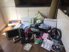 Carboot joblot house clearance clothes rug household items tv brick a brac