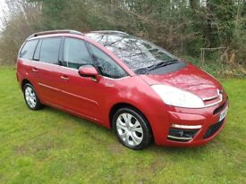 2011 CITREON GRAND C4 PICASSO 1.6 e-HDI EGS EXCLUSIVE AUTO 7 SEATER MOT JAN 2019 SERVICE HISTORY