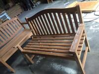 Solid teak benches new