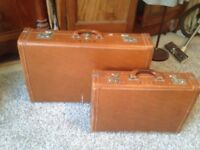 VINTAGE LEATHER SUITCASES IN EXCELLENT CONDITION