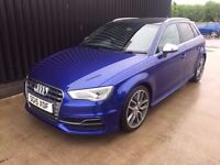 2015 Audi S3 TFSI Sportback S Tronic Quattro 5dr Huge Spec Full Service History Finance Available