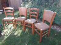 Oak Chairs x 4