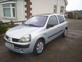RENAULT CLIO 1.2 16V 3DOOR HATCHBACK, GOOD CONDITION