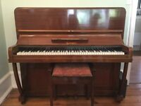 Upright Seeger Piano, good condition, urgently needs new home due to imminent move.
