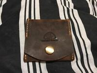 Brown suede Leather Coin Purse. Never used