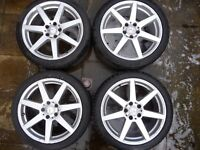 Mercedes AMG wheels and tyres to suit C class estate Collect only from Leek Staffordshire
