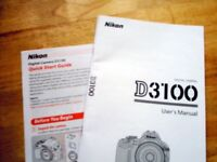 Nikon D3100 Manual + Quick Start Guide