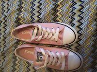 Pink converse pumps