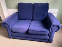 Blue sofa - 2 seater -Angel