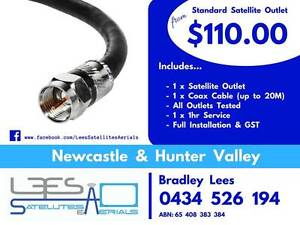 STANDARD SATELLITE OUTLET (single cable outlet) $110.00 Branxton Singleton Area Preview