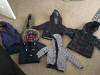 Bundle of 6 x baby jackets all age 9-12 months