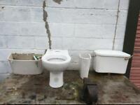 Toilet and cistern.