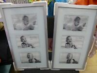 BRAND NEW! Photo Frames, layout has 3 slots for images x2