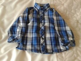 'NEXT' BABY BOYS LONG SLEEVED SHIRT, AGE 9-12 MONTHS, EXC. COND.