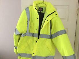Dickies Hi Viz Jacket in size Large