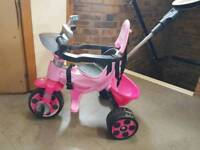 Pink baby push bike
