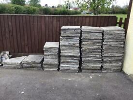 450. X 450 riven slabs , 20 half slabs