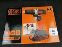 Black & Decker BCD001C1 18V Lithium-ion Drill Driver with a 1.5Ah Battery & 400mA Charger