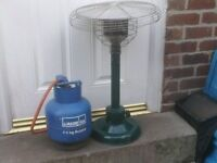 PATIO HEATER WITH BOTTLE £25