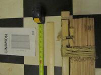 Ikea 'Lindmon' LARGE natural wood venetian blinds 140cm width, unused - bargain!