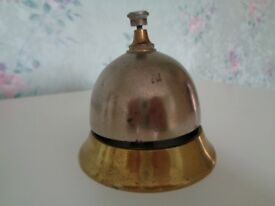 Antique Vintage Brass Reception Bell