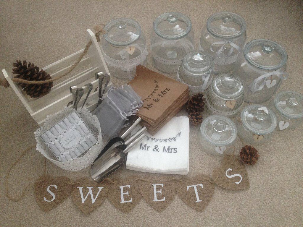 Sweetie table accessoriesin Chichester, West SussexGumtree - Everything you need for a sweetie table used once we used it at our wedding so no longer need it. It was a real hit with the guests. You get everything in the picture which includes... 1 x white wooden basket 1 x white lace basket 5 x sweet tongs 3 x...