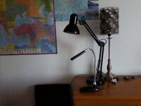 3 x reading lamps sold as batch