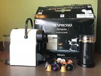 Nespresso coffee machine with Aeroccino & 22 coffee capsules